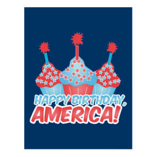 Happy Birthday, America Postcard