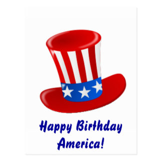 Happy Birthday America! Postcard