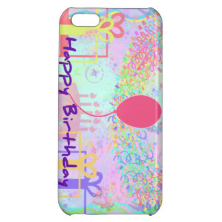 Happy Birthday and Best Wishes One Ballon Cover For iPhone 5C