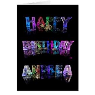 Happy Birthday Andrea Card