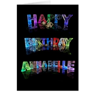 Happy Birthday Annabelle Card