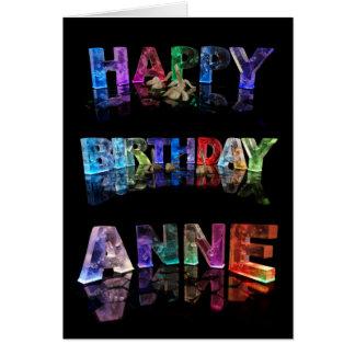 Happy Birthday Anne Card