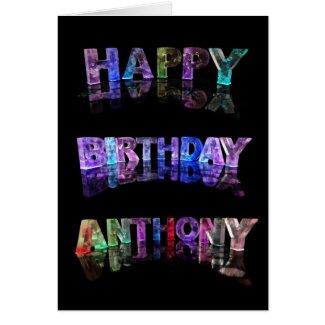 Happy Birthday Anthony Card