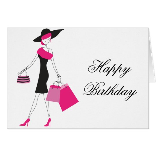 Happy Birthday/Any Occasion Shopper Greeting Card