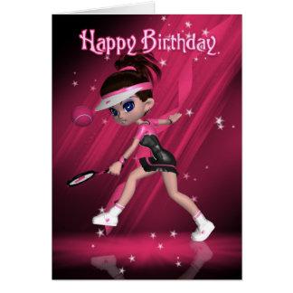 Happy Birthday - Anyone For Tennis? Card