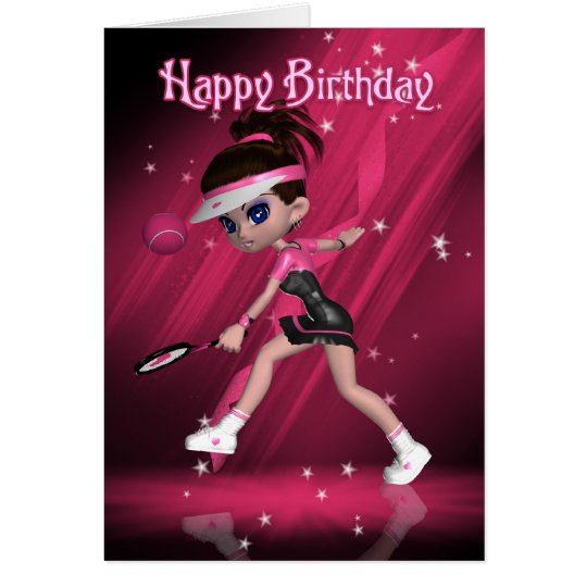 Happy Birthday - Anyone For Tennis? Card