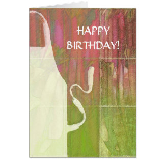 Happy Birthday Apron & Rhubarb Card