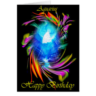 Happy Birthday Aquarius - Aquarius Card