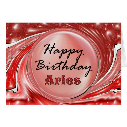 Happy Birthday Aries Card