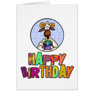 Happy Birthday - Aries Greeting Card