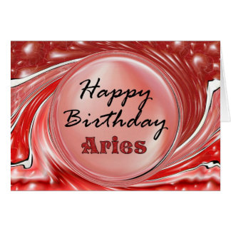 Happy Birthday Aries Greeting Card