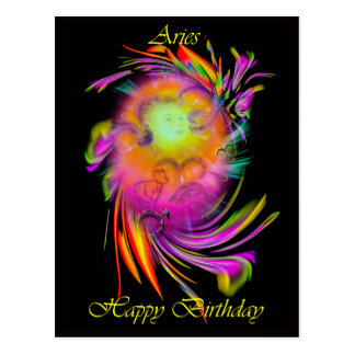Happy Birthday Aries Postcard