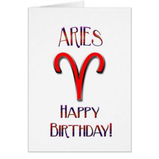 Happy Birthday Aries!-Zodiac Greeting Card