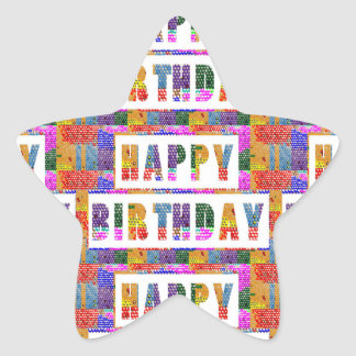 HAPPY BIRTHDAY : Artist Created Font n Color Sticker
