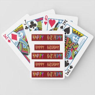HAPPY BIRTHDAY Artistic Script Text Poker Deck