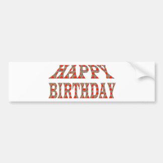 HAPPY BIRTHDAY Artistic Text Script TEMPLATE uniqu Bumper Sticker