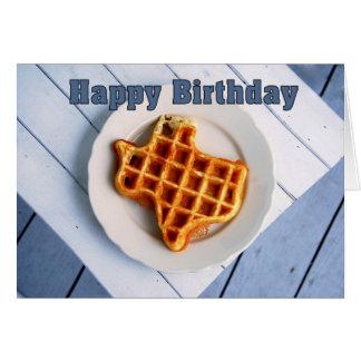 Happy Birthday August 24 Texas Waffle Card