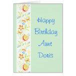 Happy Birthday Aunt Doris Greeting Card