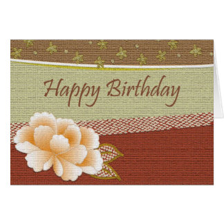 Happy Birthday - Autumn Tones Greeting Card
