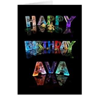 Happy Birthday Ava Card