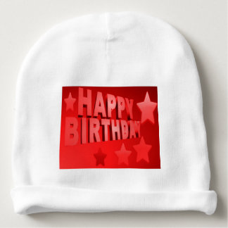 happy birthday Baby Cotton Beanie Baby Beanie