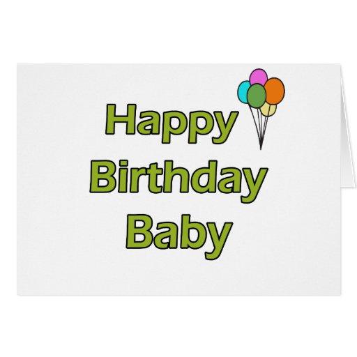 Happy Birthday Baby Greeting Card Zazzle Happy Birthday Wishes For Baby