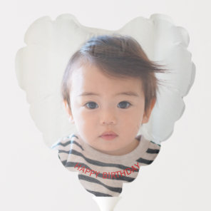 Happy Birthday Baby Photo Balloon