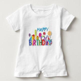 Happy Birthday Baby Romper Baby Bodysuit