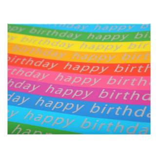 Happy Birthday Background 21.5 Cm X 28 Cm Flyer