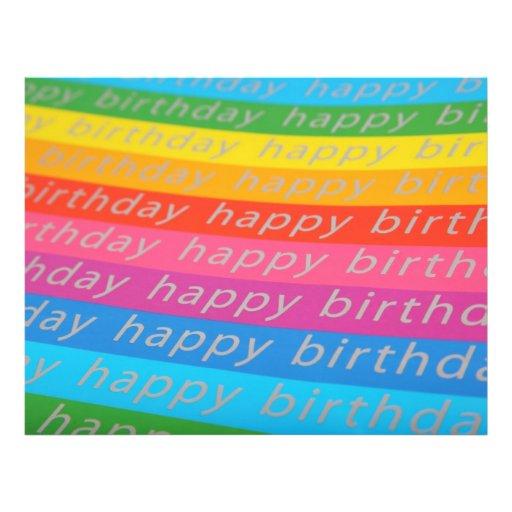 Happy Birthday Background Flyer