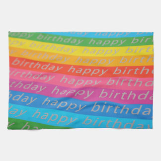 Happy Birthday Background Tea Towel