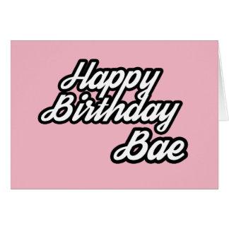 Happy Birthday Bae Card