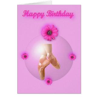 Happy Birthday Ballet Ballerina Dancer Ballet shoe Cards