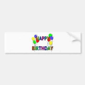 Happy Birthday Ballons D1 Bumper Sticker