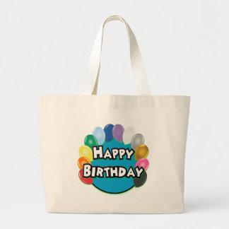 Happy Birthday Balloon Circle Tote Bag
