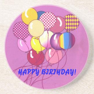 Happy Birthday Balloon Coaster
