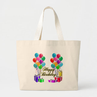 Happy Birthday Balloons and Presents Tote Bag