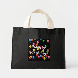 Happy Birthday Balloons Canvas Bags
