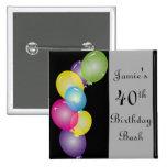 Happy Birthday Balloons Bash | DIY Text 15 Cm Square Badge