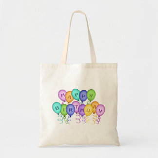Happy Birthday Balloons Canvas Bag