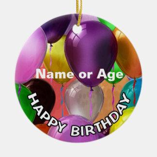 Happy Birthday Balloons Christmas Ornament