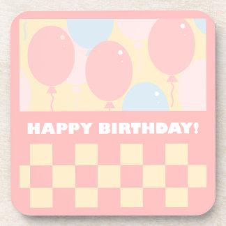 Happy Birthday Balloons Coaster