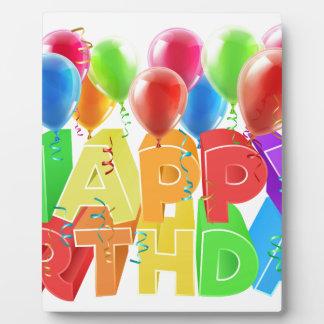Happy Birthday Balloons Display Plaques