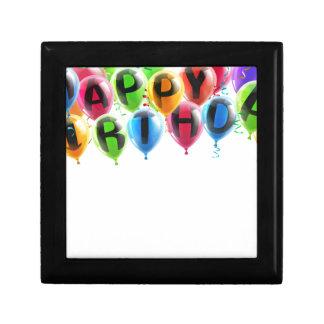 Happy birthday balloons trinket boxes