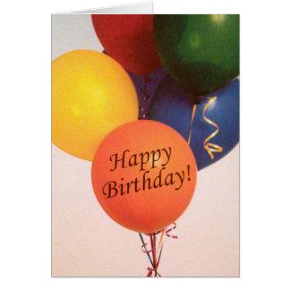 Happy Birthday Balloons Greeting Card