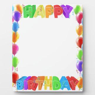 Happy Birthday Balloons Invite Border Frame Plaque
