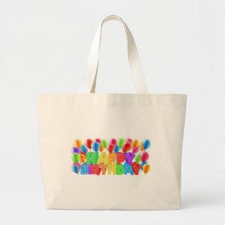 Happy Birthday Balloons Large Tote Bag