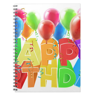 Happy Birthday Balloons Note Book