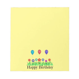 Happy Birthday, Balloons Notepad