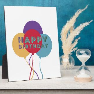 Happy Birthday Balloons Plaque